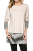 Long Dolman Sleeve Tunic W/ Striped Hem - BodiLove | 30% Off First Order  - 14
