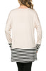 Long Dolman Sleeve Tunic W/ Striped Hem - BodiLove | 30% Off First Order  - 15
