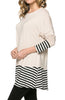 Long Dolman Sleeve Tunic W/ Striped Hem - BodiLove | 30% Off First Order  - 16