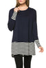 Long Dolman Sleeve Tunic W/ Striped Hem - BodiLove | 30% Off First Order  - 18