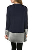 Long Dolman Sleeve Tunic W/ Striped Hem - BodiLove | 30% Off First Order  - 19