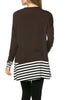 Long Dolman Sleeve Tunic W/ Striped Hem - BodiLove | 30% Off First Order  - 22