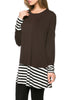 Long Dolman Sleeve Tunic W/ Striped Hem - BodiLove | 30% Off First Order  - 23