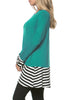 Long Dolman Sleeve Tunic W/ Striped Hem - BodiLove | 30% Off First Order  - 42
