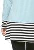 Long Dolman Sleeve Tunic W/ Striped Hem - BodiLove | 30% Off First Order  - 46