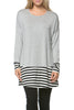 Long Dolman Sleeve Tunic W/ Striped Hem - BodiLove | 30% Off First Order  - 51