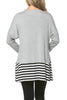 Long Dolman Sleeve Tunic W/ Striped Hem - BodiLove | 30% Off First Order  - 52