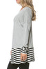 Long Dolman Sleeve Tunic W/ Striped Hem - BodiLove | 30% Off First Order  - 53