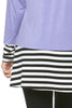 Long Dolman Sleeve Tunic W/ Striped Hem - BodiLove | 30% Off First Order  - 57