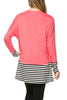 Long Dolman Sleeve Tunic W/ Striped Hem - BodiLove | 30% Off First Order  - 59