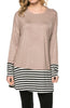 Long Dolman Sleeve Tunic W/ Striped Hem - BodiLove | 30% Off First Order  - 61