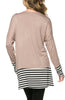 Long Dolman Sleeve Tunic W/ Striped Hem - BodiLove | 30% Off First Order  - 62