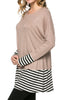 Long Dolman Sleeve Tunic W/ Striped Hem - BodiLove | 30% Off First Order  - 63