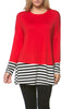 Long Dolman Sleeve Tunic W/ Striped Hem - BodiLove | 30% Off First Order  - 73