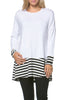 Long Dolman Sleeve Tunic W/ Striped Hem - BodiLove | 30% Off First Order  - 80