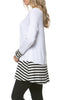 Long Dolman Sleeve Tunic W/ Striped Hem - BodiLove | 30% Off First Order  - 82