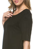 Short Sleeve Basic Hi-Low Tunic Top - BodiLove | 30% Off First Order  - 4