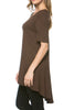 Short Sleeve Basic Hi-Low Tunic Top - BodiLove | 30% Off First Order  - 7