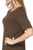 Short Sleeve Basic Hi-Low Tunic Top - BodiLove | 30% Off First Order  - 8