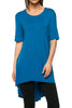 Short Sleeve Basic Hi-Low Tunic Top - BodiLove | 30% Off First Order  - 10