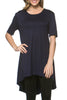 Short Sleeve Basic Hi-Low Tunic Top - BodiLove | 30% Off First Order  - 14