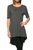 Short Sleeve Basic Hi-Low Tunic Top - BodiLove | 30% Off First Order  - 18