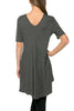 Short Sleeve Basic Hi-Low Tunic Top - BodiLove | 30% Off First Order  - 19