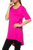 Short Sleeve Basic Hi-Low Tunic Top - BodiLove | 30% Off First Order  - 24