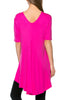 Short Sleeve Basic Hi-Low Tunic Top - BodiLove | 30% Off First Order  - 25