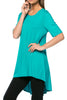 Short Sleeve Basic Hi-Low Tunic Top - BodiLove | 30% Off First Order  - 28
