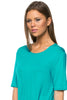 Short Sleeve Basic Hi-Low Tunic Top - BodiLove | 30% Off First Order  - 29