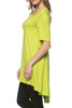 Short Sleeve Basic Hi-Low Tunic Top - BodiLove | 30% Off First Order  - 32