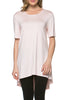 Short Sleeve Basic Hi-Low Tunic Top - BodiLove | 30% Off First Order  - 34