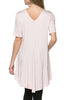 Short Sleeve Basic Hi-Low Tunic Top - BodiLove | 30% Off First Order  - 35
