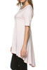 Short Sleeve Basic Hi-Low Tunic Top - BodiLove | 30% Off First Order  - 36
