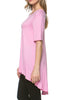 Short Sleeve Basic Hi-Low Tunic Top - BodiLove | 30% Off First Order  - 40