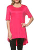Short Sleeve Basic Hi-Low Tunic Top - BodiLove | 30% Off First Order  - 42