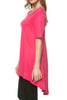Short Sleeve Basic Hi-Low Tunic Top - BodiLove | 30% Off First Order  - 44