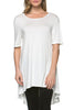 Short Sleeve Basic Hi-Low Tunic Top - BodiLove | 30% Off First Order  - 46