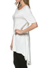 Short Sleeve Basic Hi-Low Tunic Top - BodiLove | 30% Off First Order  - 48