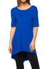Short Sleeve Basic Hi-Low Tunic Top - BodiLove | 30% Off First Order  - 50