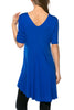 Short Sleeve Basic Hi-Low Tunic Top - BodiLove | 30% Off First Order  - 51