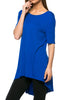 Short Sleeve Basic Hi-Low Tunic Top - BodiLove | 30% Off First Order  - 52