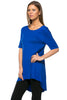 Short Sleeve Basic Hi-Low Tunic Top - BodiLove | 30% Off First Order  - 53