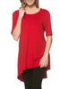 Short Sleeve Basic Hi-Low Tunic Top - BodiLove | 30% Off First Order  - 54