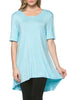 Short Sleeve Basic Hi-Low Tunic Top - BodiLove | 30% Off First Order  - 58