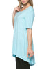 Short Sleeve Basic Hi-Low Tunic Top - BodiLove | 30% Off First Order  - 60