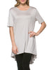 Short Sleeve Basic Hi-Low Tunic Top - BodiLove | 30% Off First Order  - 62