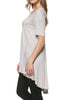 Short Sleeve Basic Hi-Low Tunic Top - BodiLove | 30% Off First Order  - 64
