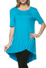 Short Sleeve Basic Hi-Low Tunic Top - BodiLove | 30% Off First Order  - 66